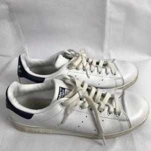 adidas Shoes - Adidas Stan Smith White Navy Sneakers Size 8.5